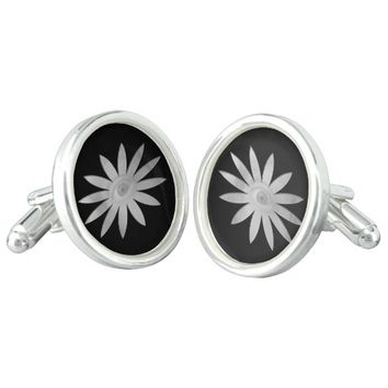 White Eye Flower Cufflinks