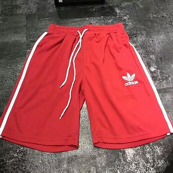ADIDAS Clover Men and women couples casual sports shorts F-AA-XDD Red