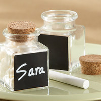 Corked Favor Jars with Chalkboard Labels (Set of 12)