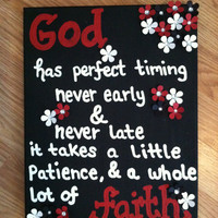 Christian Quote Canvas Painting (Made to order) 11x14