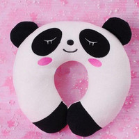 Panda Soft U Neck Rest Car Office Travel Pillow Gift J