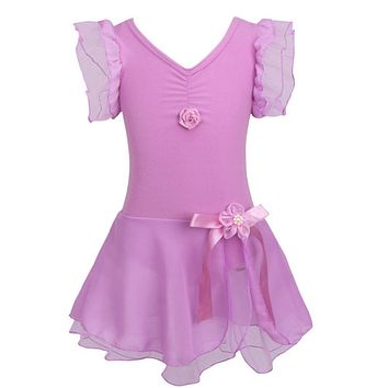 Child Girls Ballet Tutu Gymnastic Leotard Dance Dress Sleeveless Kids Dancewear Clothing Princess Ballerina Fairy Party Costume