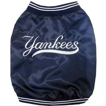CREYONI New York Yankees Pet Dugout Jacket