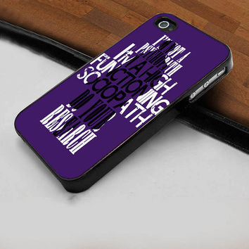 Tee Busters  Sherlock Holmes  - Hard Case Print for iPhone 4 / 4s case - iPhone 5 case - Black or White (Option Please)