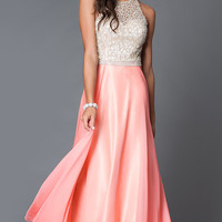 Floor Length Sleeveless Prom Dress 1725 by Dave and Johnny