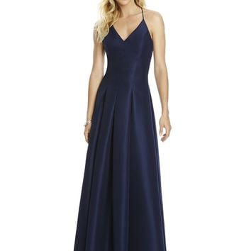 After Six by Dessy 6767 Floor Length Mikado Bridesmaid Dress