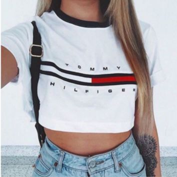 CUTE SHORT STYLE WHITE Black TOP BLOUSE SHIRT two style