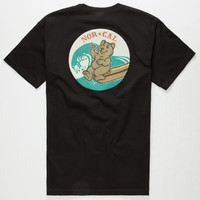 Nor Cal Surf Cub Mens T-Shirt Black  In Sizes