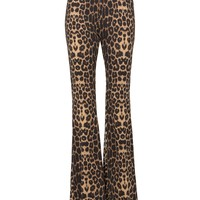 Wild Ride Leopard Bell Bottom Pants