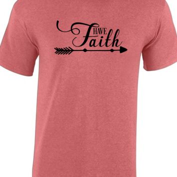 Have Faith Christian Inspirational Short Sleeve Shirt