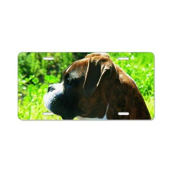 BOXER DOG ALUMINUM LICENSE PLATE