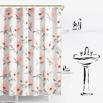 kate spade new york poppies shower curtain | Nordstrom