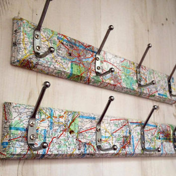 Upcycled Atlas Coat Hooks