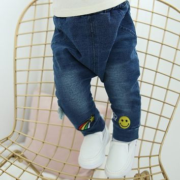 Infant Baby Boys&Girls Spring Jeans Denim Pants Newborn Bebe Soft Harem Pants Girl Cool Jeans Solid Trousers Toddler Kid Clothes