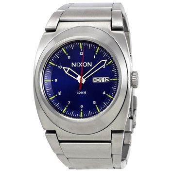 Nixon Don II Blue Dial Stainless Steel Mens Watch A3581258