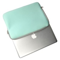 """TopCase Zipper Sleeve Bag Cover Case for ALL Laptop 13"""" 13 inch Macbook Pro / Macbook Unibody / Macbook Air with TOPCASE Logo Mouse Pad (HOT BLUE)"""