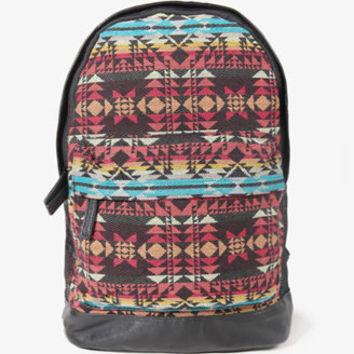 Faux Leather Southwestern Backpack
