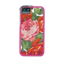 Pink Red Roses Case For iPhone 5