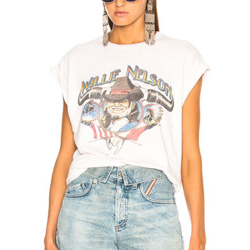 Madeworn Willie Nelson Tee in Dirty White | FWRD