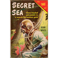 Secret Sea by Robb White Scholastic Book Services T68 1960s Kids Paperback Book Sunken Treasure