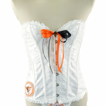 NEW Style 2015 ~  Balitmore Orioles White Black Lace Up Corset Waist Trainer Bustier Women