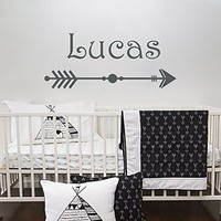 Personalized Arrow Boy Name Wall Decal Vinyl Decal Boys Name Arrow Tribal Wall Decal Trendy Adventure Nursery Wall Decal Arrow Decor SN30