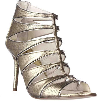 MICHAEL Michael Kors Mavis Open Toe Evening Dress Sandals - Pale Gold