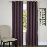 Ben&Jonah Collection Taylor - Lined Grommet Window Curtain Panel - 50x63 Aubergine