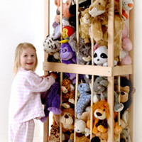 Stuffed Animal Storage- THE ZOO stores 90 or more stuffed animals.