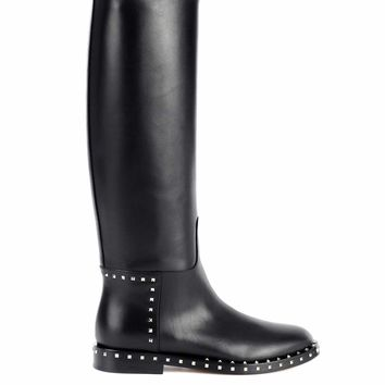 Valentino Garavani leather knee-high boots