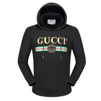 Gucci Women or Men  Fashion Casual Loose Top Sweater Pullover Hoodie
