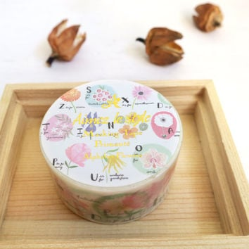 Alphabet Flowers by aimez le style washi masking tape