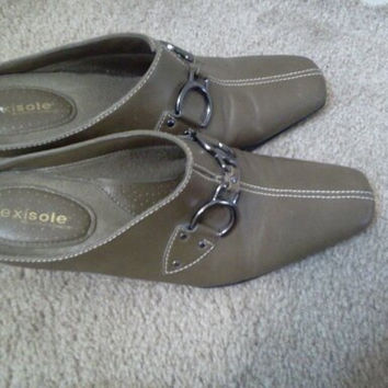 Buckle Mules in Womens Size 7