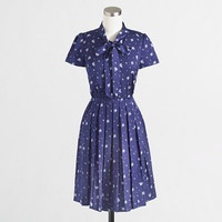 Factory printed pleated tie-neck dress - Day Dresses - FactoryWomen's Dresses - J.Crew Factory
