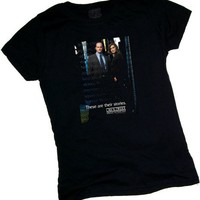 SVU -- Law & Order Special Victims Unit Crop Sleeve Fitted Juniors T-Shirt