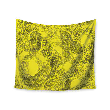 "Patternmuse ""Mandala Lemon"" Yellow Wall Tapestry"