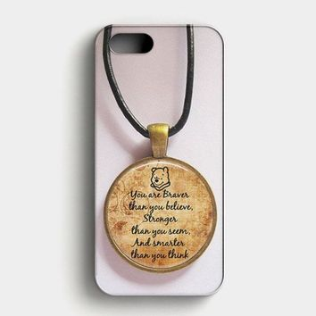 Winnie The Pooh Quotes iPhone SE Case