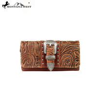 Montana West MW171-W002 Tooled Wallet