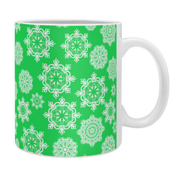 Lisa Argyropoulos Mini Flurries on Jolly Green Coffee Mug