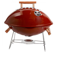 Football Style Outdoor Portable Charcoal Grill
