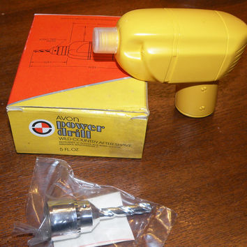 Vintage Avon Power Drill Wild Country After Shave Unopened Boxed 1970s