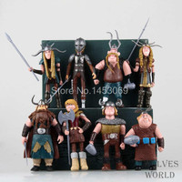 8pcs/set how to train your dragon 2 movie figurines pvc action figures classic toys kids Christmas gift 10-14cm