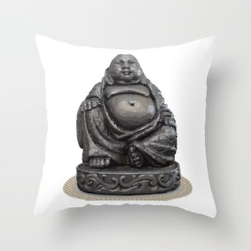 Buddha Throw Pillow by Taoteching / C4Dart