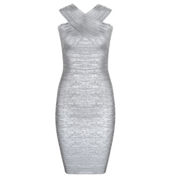 Juan Silver Brushed Dress