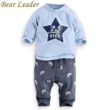 Bear Leader Clothing sets 2015 Fashion New style baby boys clothes Cotton boy letter star long sleeve suits children clothing