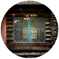 Paul Moore's Rustic Cabin Circle wall decal