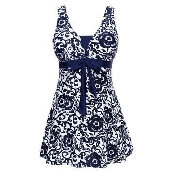 Swimwear Female Polka Print One Piece Swimsuit Women Bathing One-Piece Suits Retro Swimsuit