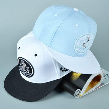 Anchor Baseball Caps HipHop Captain Style LOGO Embroidery Flat Snapback Hats 2017 US Casual Boy Cap Hip-Hop Nice For Men Women