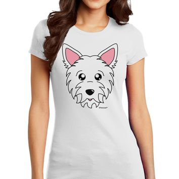 Cute West Highland White Terrier Westie Dog Juniors T-Shirt by TooLoud