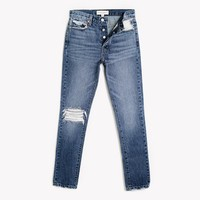 Skinny Rich Whiskers Frayed High Rise Jeans